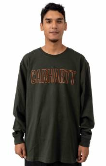 (103841) Workwear Block Logo Graphic L/S Shirt - Peat