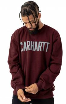 (103853) Block Logo Crewneck Sweatshirt - Port Heather