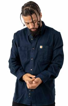 (103870) Rugged Flex Hamilton Solid L/S Shirt - Navy