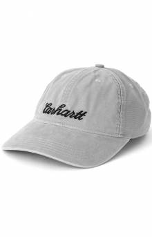 (104188) Canvas Full-Back Script Graphic Cap - Asphalt