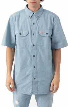 (104369) Original Fit MW S/S Button-Up Shirt - Blue Chambray