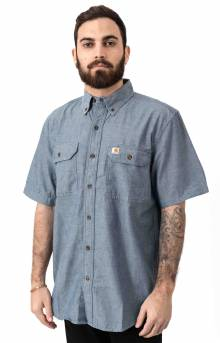 (104369) Original Fit MW S/S Button-Up Shirt - Deinm Blue