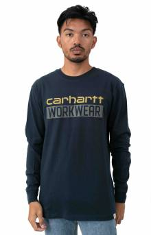 (104431) Original Fit HW L/S Workwear Graphic Shirt - Navy