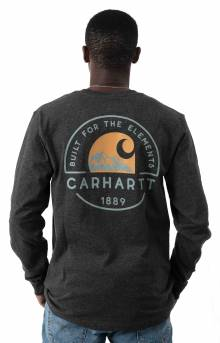 (104438) Relaxed Fit HW L/S Pocket Built For The Elements Graphic Shirt - Carbon Heather
