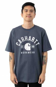 (104582) Relaxed-Fit Workwear Graphic T-Shirt - Bluestone