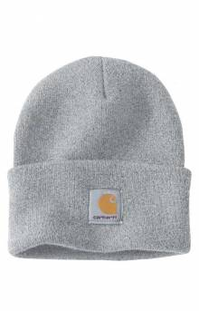 (A18) Acrylic Watch Hat - Heather Grey