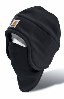 (A202) Fleece 2 in 1 Headwear - Black