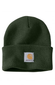 Acrylic Watch Hat - Dark Green