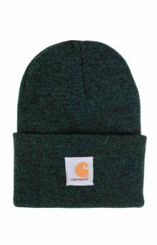 Acrylic Watch Hat - Hunter Green/Black