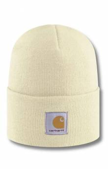 Acrylic Watch Hat - Winter White