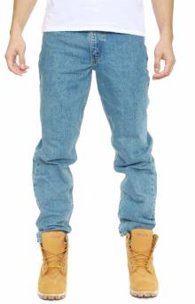(B17) Relaxed Fit Tapered Leg Jeans - Stone Wash