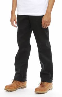 (B290) Twill Work Pants - Black