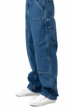 (B73) Loose/Original - Fit Washed Logger Double Front Work Jean - Dark Stone