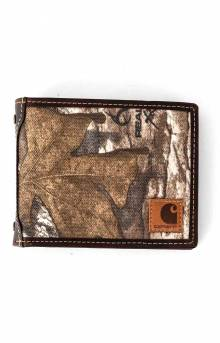 Camouflage Canvas Passcase Wallet