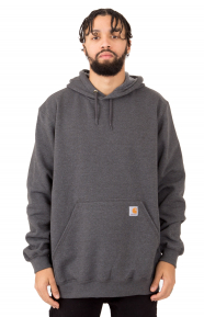 (K121) Midweight Pullover Hoodie - Carbon Heather