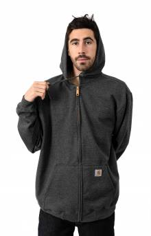 (K122) Midweight Zip-Up Hoodie - Carbon Heather