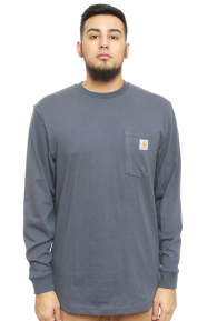 (K126) L/S Workwear Pocket Shirt - Blue Stone