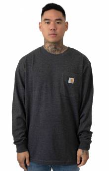 (K126) L/S Workwear Pocket Shirt - Carbon Heather