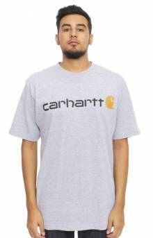 (K195) Signature Logo S/S T-Shirt - Heather Grey