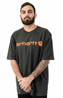(K195) S/S Signature Logo T-Shirt - Peat/Bold Orange