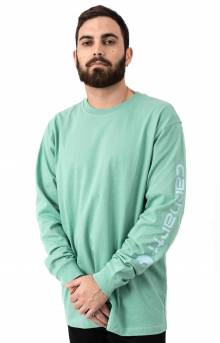(K231) Signature Sleeve Logo L/S Shirt - Botanic Green