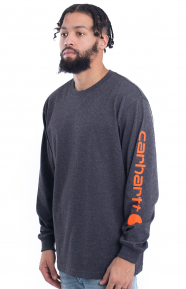 (K231) Signature Sleeve Logo L/S Shirt - Carbon Heather