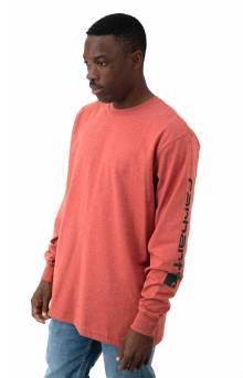 (K231) Signature Sleeve Logo L/S Shirt - Cayenne Heather
