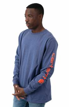 (K231) Signature Sleeve Logo L/S Shirt - Dusk Blue Heather
