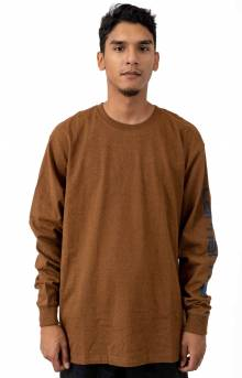 (K231) Signature Sleeve Logo L/S Shirt - Oiled Walnut Heather