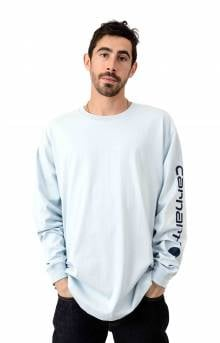 (K231) Signature Sleeve Logo L/S Shirt - Soft Blue
