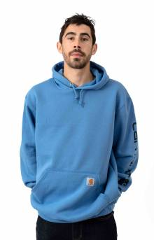 (K288) MW Signature Sleeve Logo Pullover Hoodie - French Blue