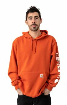 (K288) MW Signature Sleeve Logo Pullover Hoodie - Harvest Orange