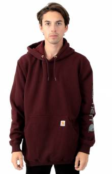 (K288) MW Signature Sleeve Logo Pullover Hoodie - Port Heather
