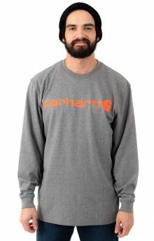 (K298) Signature Logo L/S Shirt - Granite Heather