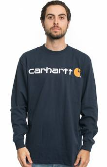 (K298) Signature Logo L/S Shirt - Navy