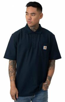 (K570) Contractor's Work Pocket Polo - Navy