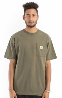 (K87) Workwear Pocket T-Shirt - Army Green