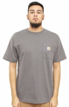(K87) Workwear Pocket T-Shirt - Charcoal