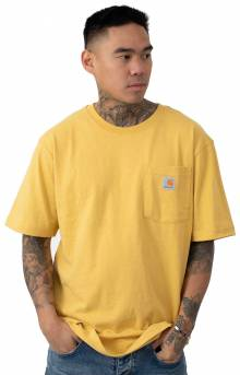 (K87) Workwear Pocket T-Shirt - Misted Yellow Heather