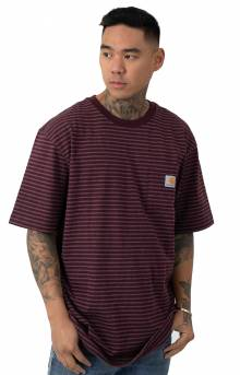 (K87) Workwear Pocket T-Shirt - Port Stripe