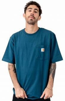 (K87) Workwear Pocket T-Shirt - Stream Blue