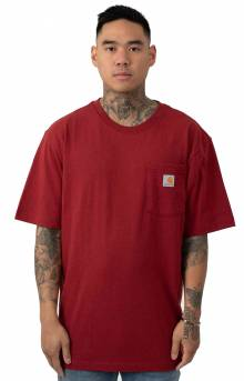 (K87) Workwear Pocket T-Shirt - Sun Dried Tomato Heather