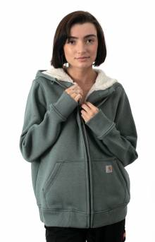(102787) Clarksburg Sherpa Lined Hoodie - Fog Green Heather