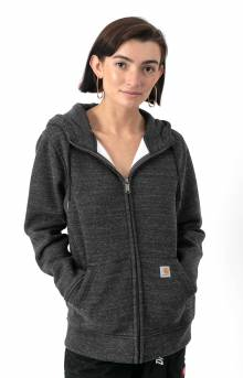 (102788) Clarksburg Full Zip Hoodie - Black Heather Nep