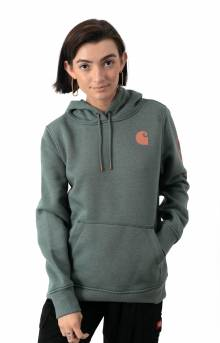 (102791) Clarksburg Graphic Sleeve Pullover Hoodie - Fog Green Heather