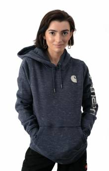 (102791) Clarksburg Graphic Sleeve Pullover Hoodie - Navy Space Dye