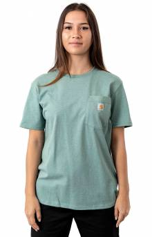 (103067) WK87 Workwear Pocket T-Shirt - Balsam Green Heather