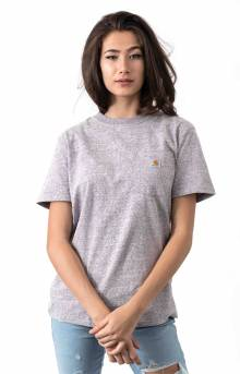 (103067) WK87 Workwear Pocket T-Shirt - Gull Grey Snow Heather