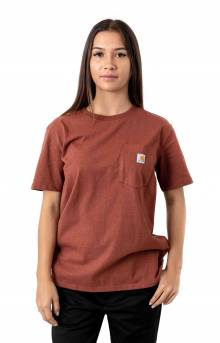 (103067) WK87 Workwear Pocket T-Shirt - Henna Heather