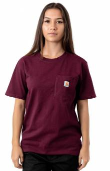 (103067) WK87 Workwear Pocket T-Shirt - Mangosteen Heather